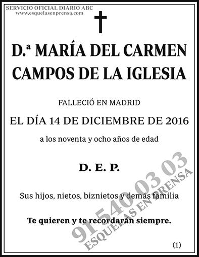 María del Carmen Campos de la Iglesia